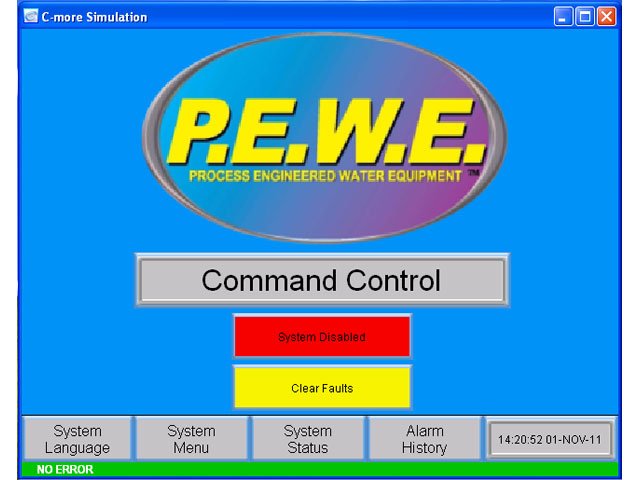 command control screen